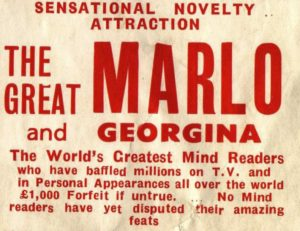 poster for the Great Marlo and Georgina