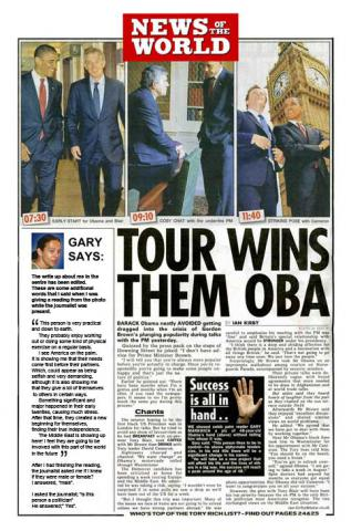 News of the World Article about Gary and Barak Obama
