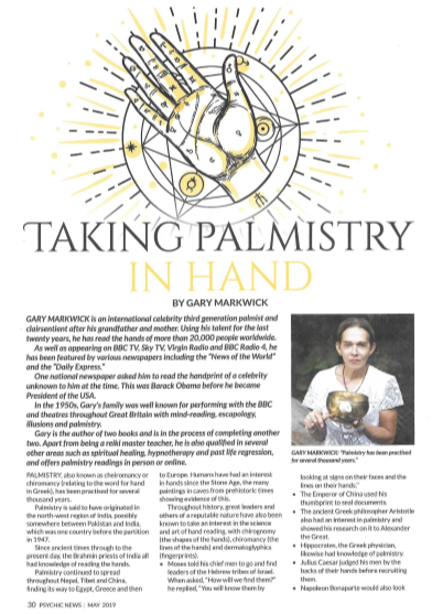 talking palmistry in hand article