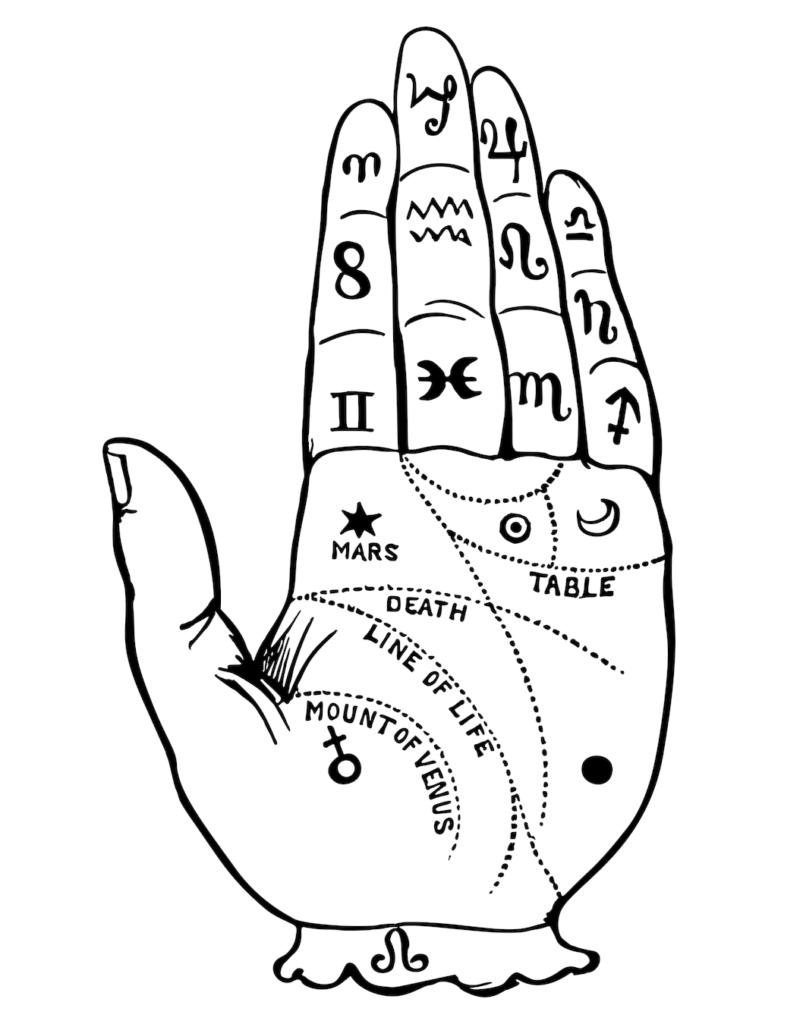 palm reading hand
